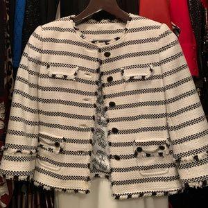 White House Black Market Fringe blazer size 4